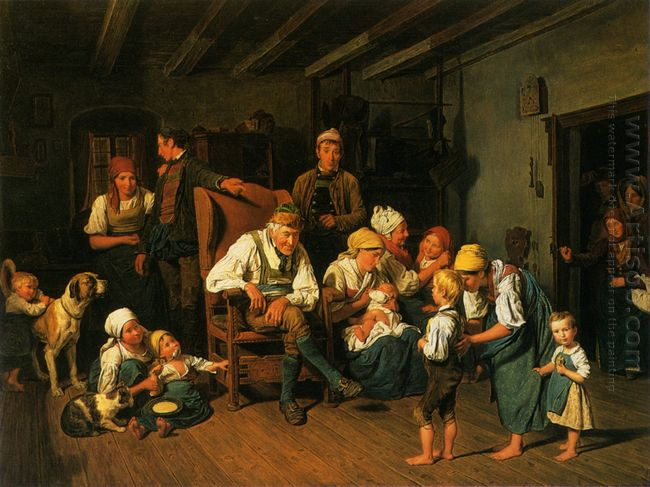 Abuelos cumpleaños -Ferdinand Georg Waldmüller